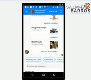 Modelo de atendimento automático por chatbot para micro empresas para Fanpages do Facebook